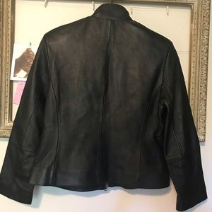 Bernardo Jackets & Coats - Black leather motor jacket